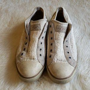 Ugg Fleece Lined Tennis Shoes Slip On 7.5